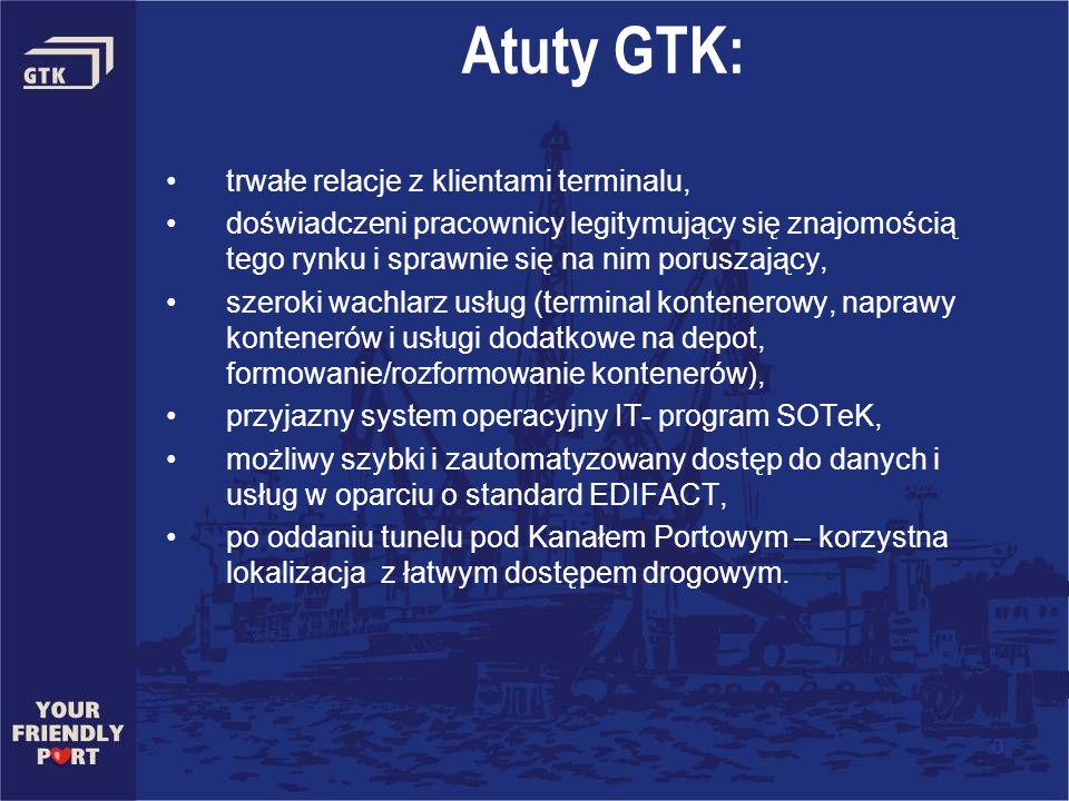 Atuty GTK: trwałe relacje z klientami terminalu, doświadczeni pracownicy legitymujący się znajomością tego rynku i sprawnie się na nim poruszający, sz