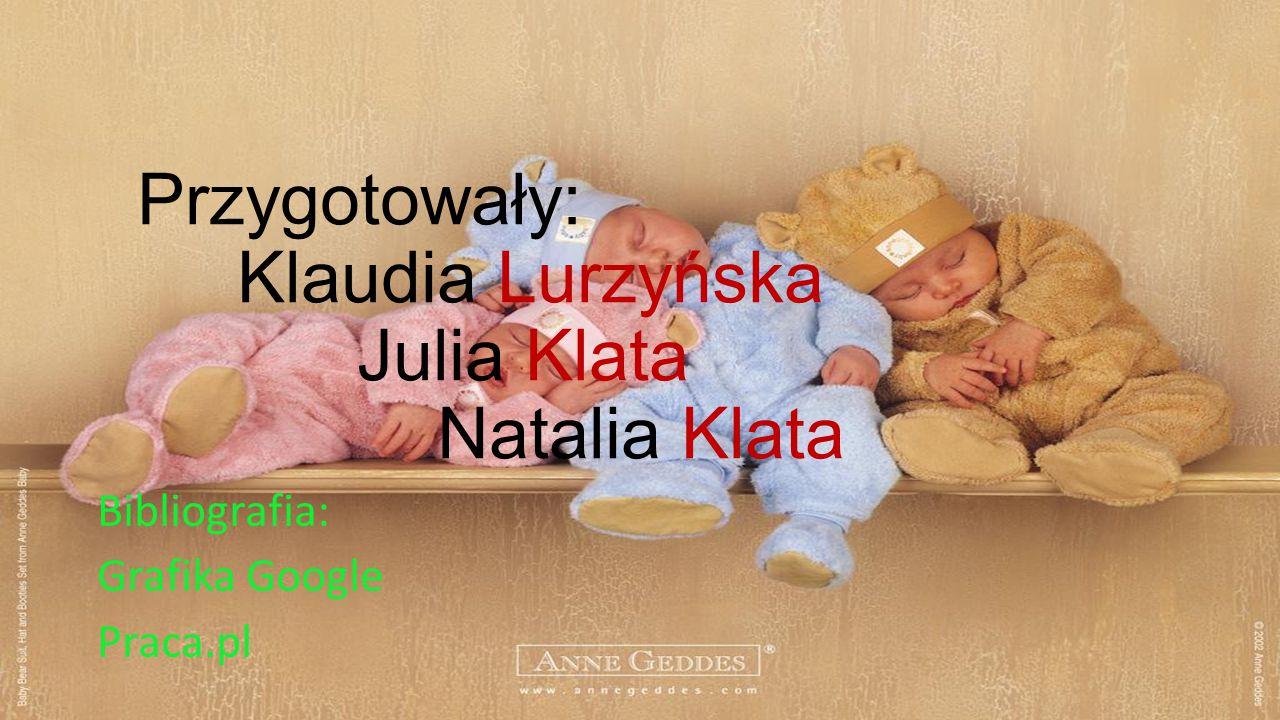 Przygotowały: Klaudia Lurzyńska Julia Klata Natalia Klata Bibliografia: Grafika Google Praca.pl