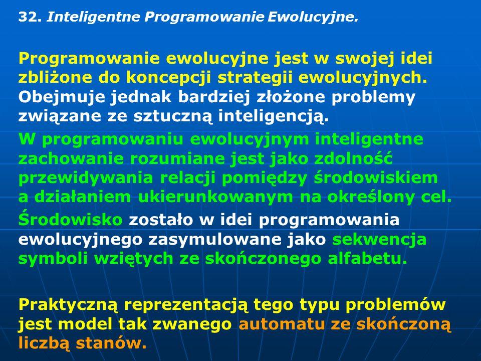 32.Inteligentne Programowanie Ewolucyjne.