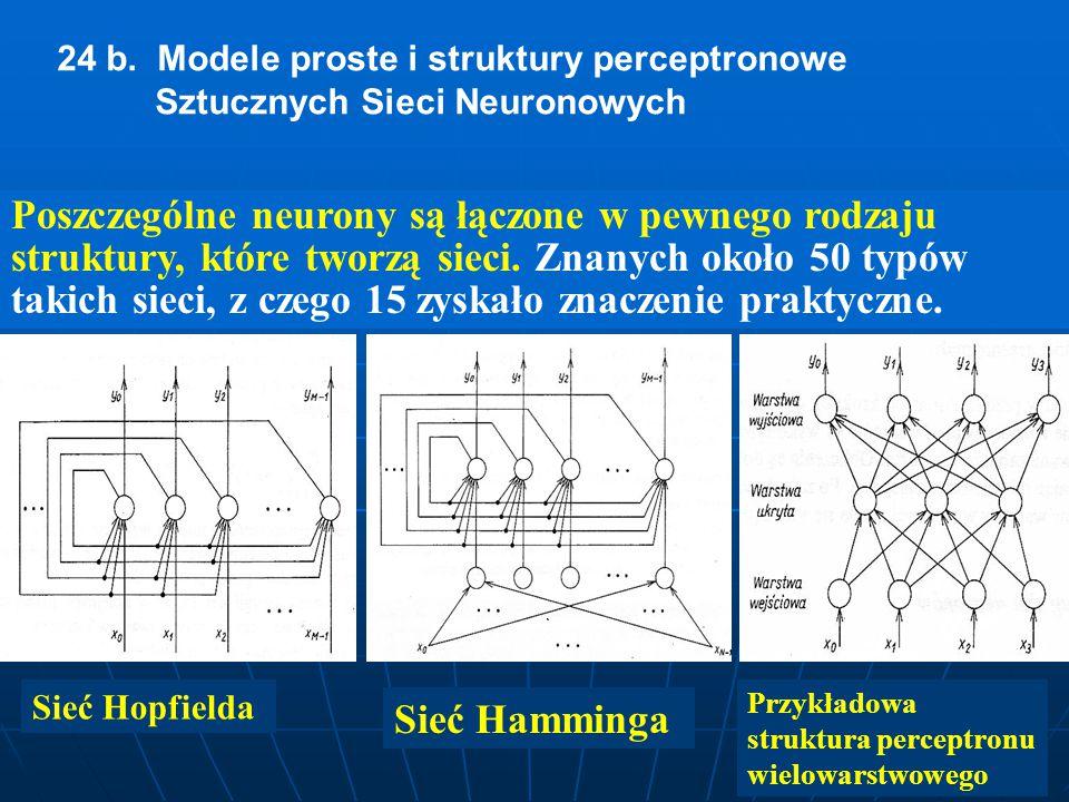 25 a.Algorytmy uczenia sieci perceptronowej.