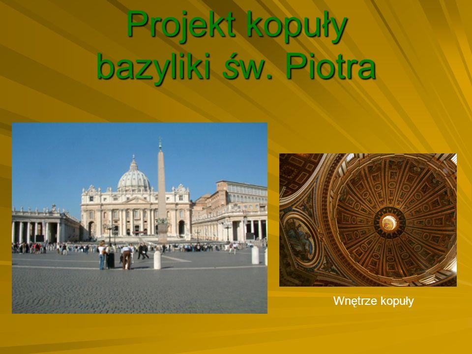 Projekt kopuły bazyliki św. Piotra Wnętrze kopuły