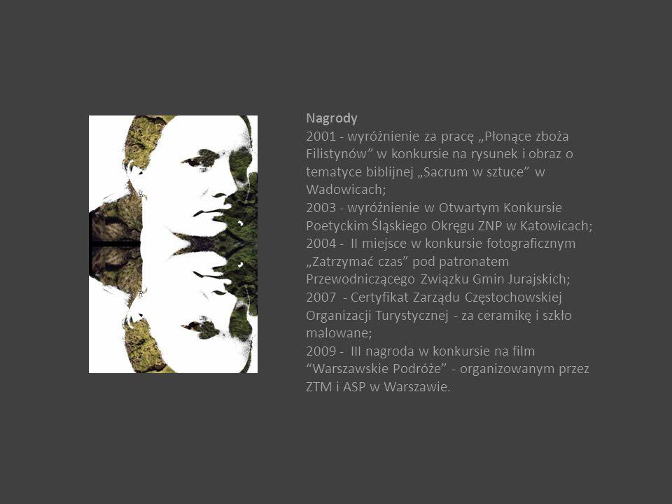 """Nagrody 2001 - wyróżnienie za pracę """"Płonące zboża Filistynów"""" w konkursie na rysunek i obraz o tematyce biblijnej """"Sacrum w sztuce"""" w Wadowicach; 200"""