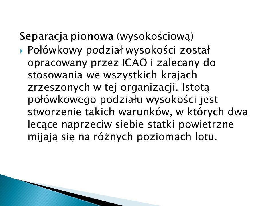 Separacje pionowe w FIR Warszawa