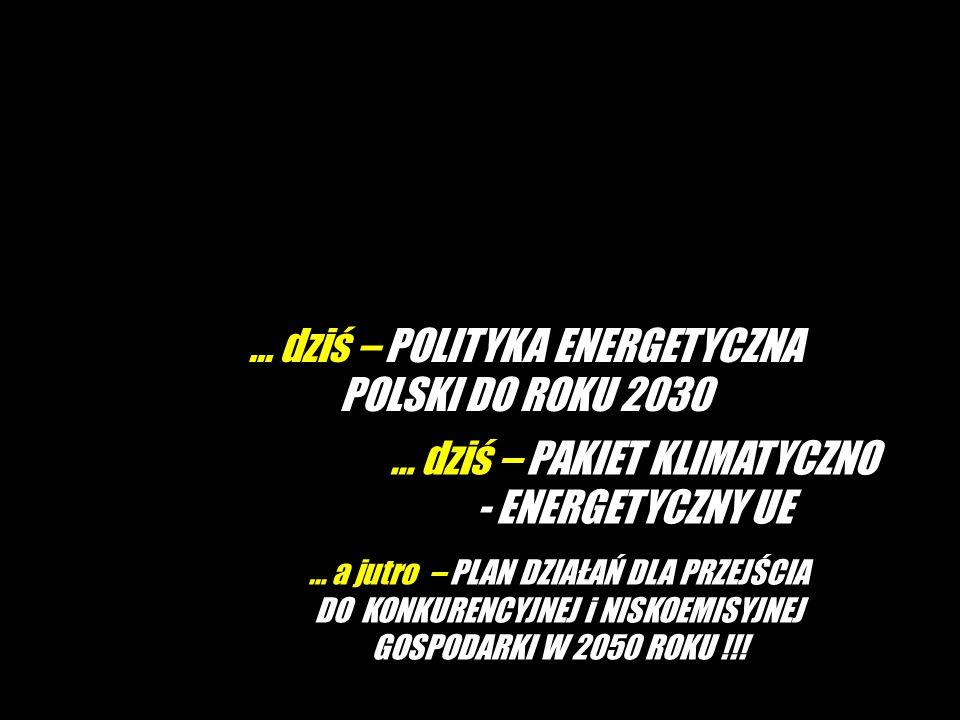 … dziś – POLITYKA ENERGETYCZNA POLSKI DO ROKU 2030 … a jutro – PLAN DZIAŁAŃ DLA PRZEJŚCIA DO KONKURENCYJNEJ i NISKOEMISYJNEJ GOSPODARKI W 2050 ROKU !!