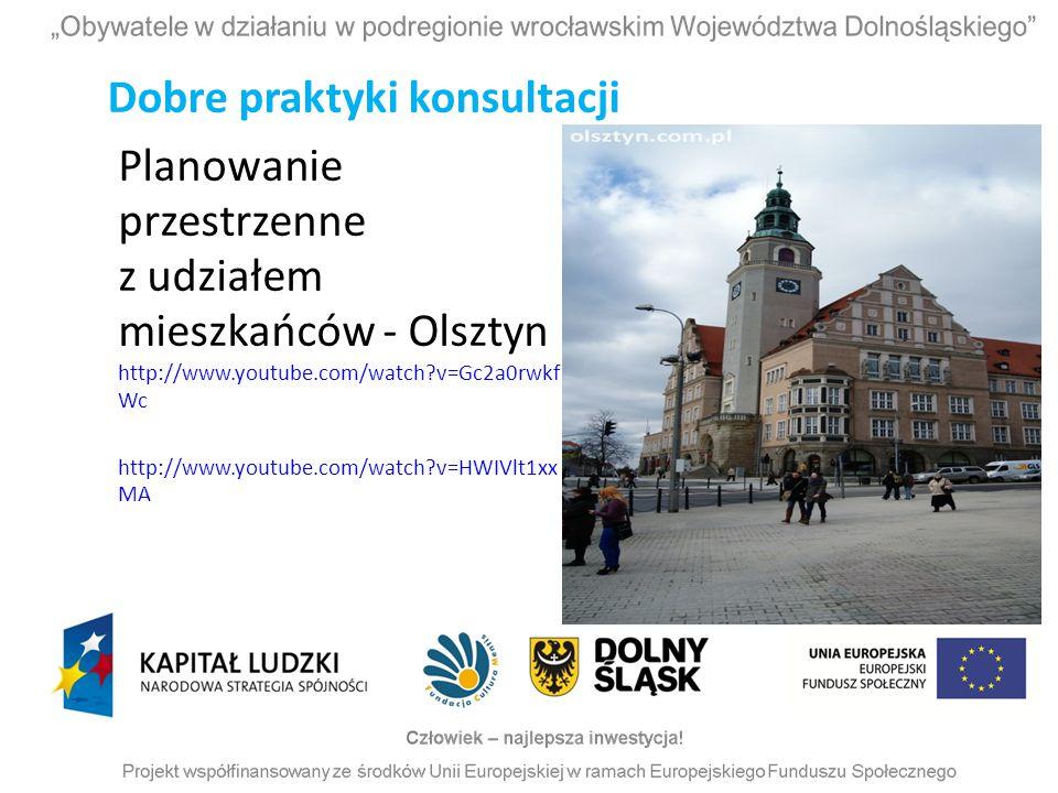 Planowanie przestrzenne z udziałem mieszkańców - Olsztyn http://www.youtube.com/watch?v=Gc2a0rwkf Wc http://www.youtube.com/watch?v=HWIVlt1xx MA Dobre