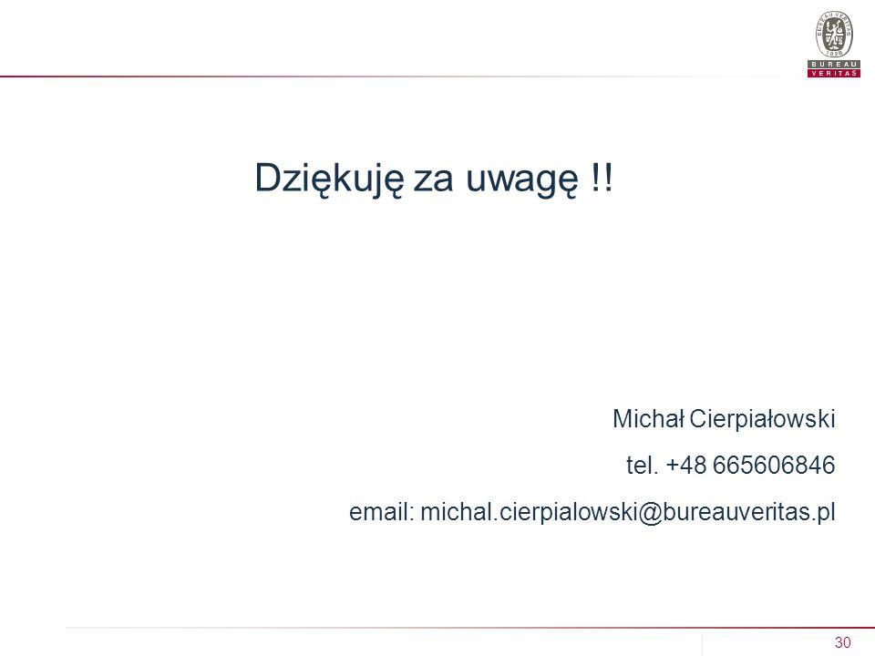 30 IZBA ZBOŻOWO-PASZOWA, Wągrowiec 29.11.2013 r.Dziękuję za uwagę !.