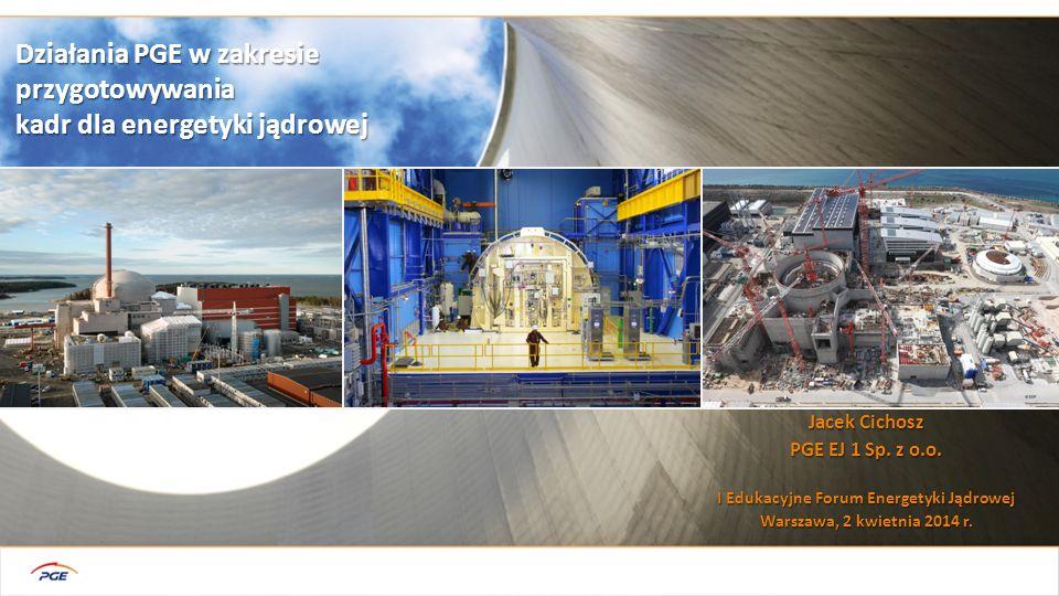 2 Przygotowanie, realizacja budowy i bezpieczna eksploatacja elektrowni jądrowej wymaga koordynacji działań wielu instytucji i podmiotów (100+) oraz kompetentnych kadr dla realizacji ich zadań własnych PROJEKT EJ Dostawca technologii i głównych komponentów PGE Instytucje UE Administracja publiczna Instytuty naukowe i badawcze Szkoły i uczelnie Odbiorcy energii el.
