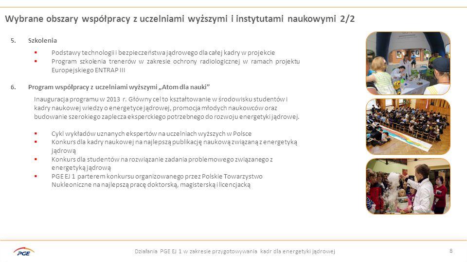 9 Działania PGE w zakresie przygotowywania kadr dla energetyki jądrowej Wybrane działania edukacyjno – informacyjne  Portal edukacyjny www.swiadomomieoatomie.pl  Cykl wykładów dla Uniwersytetów Trzeciego Wieku z woj.