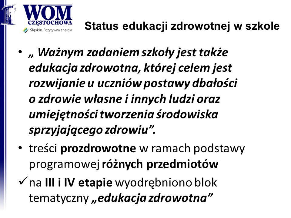 Status edukacji zdrowotnej w szkole 2014-08-20 RODN