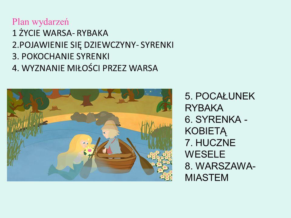 Plan wydarzeń 1 ŻYCIE WARSA- RYBAKA 2.POJAWIENIE SIĘ DZIEWCZYNY- SYRENKI 3.