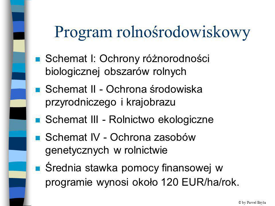Program rolnośrodowiskowy n Schemat I: Ochrony różnorodności biologicznej obszarów rolnych n Schemat II - Ochrona środowiska przyrodniczego i krajobra