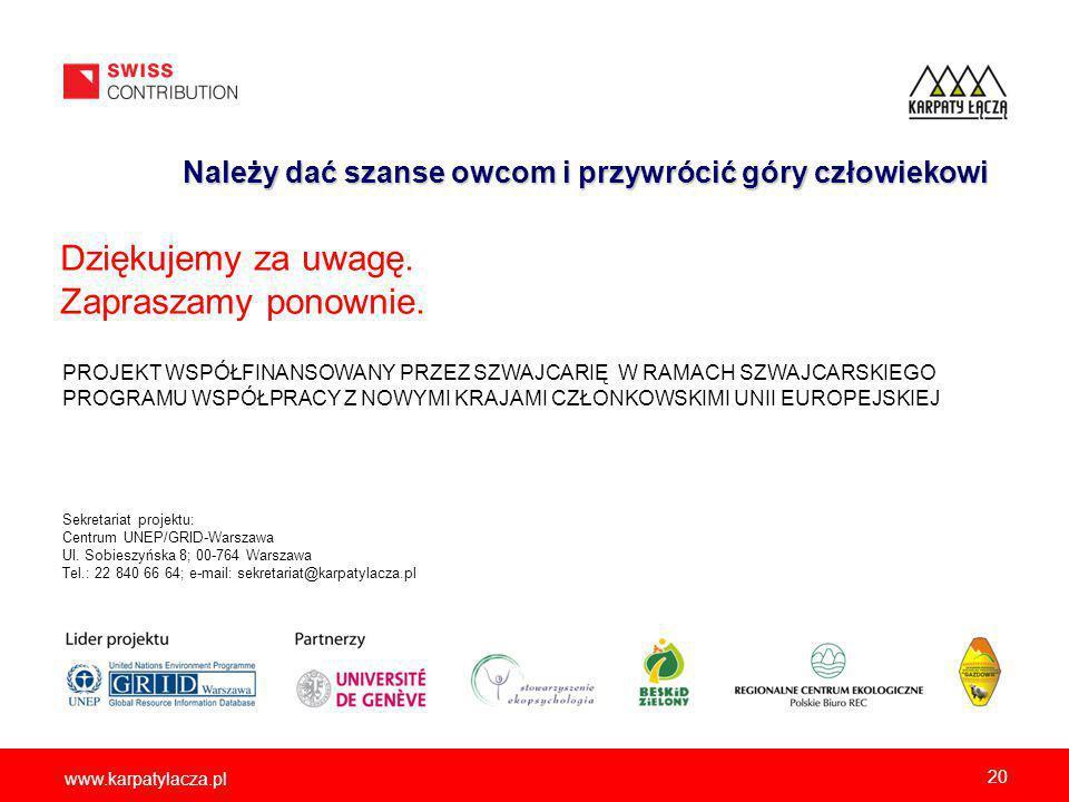 www.karpatylacza.pl Sekretariat projektu: Centrum UNEP/GRID-Warszawa Ul.