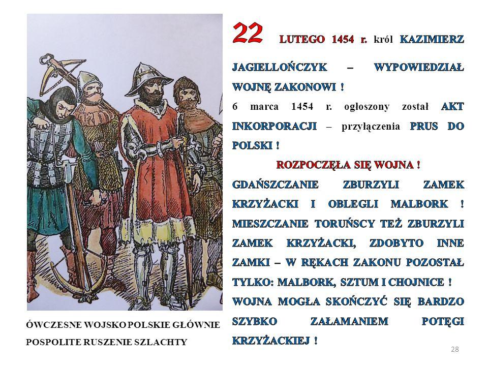 28 ÓWCZESNE WOJSKO POLSKIE GŁÓWNIE POSPOLITE RUSZENIE SZLACHTY