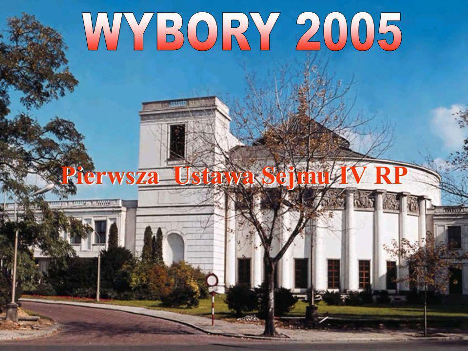 Pierwsza Ustawa Sejmu IV RP Pierwsza Ustawa Sejmu IV RP