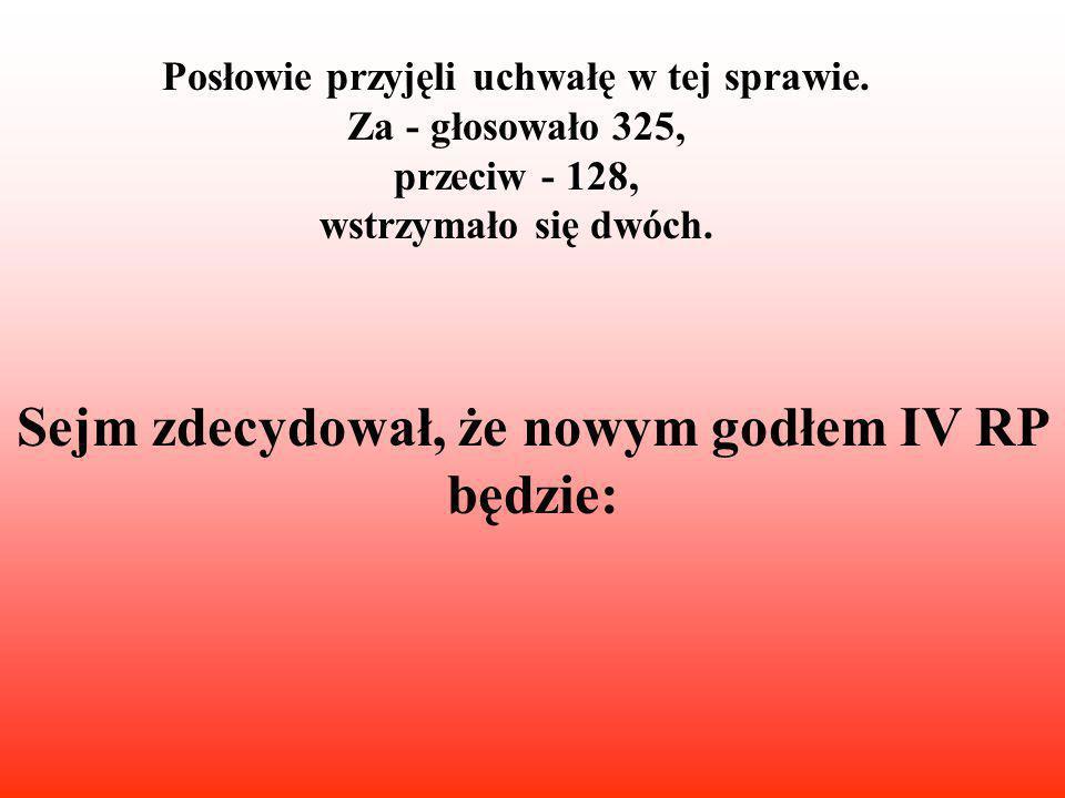 """""""Nowy Marszałek Sejmu IV RP ogłasza zmianę Godła Narodowego"""
