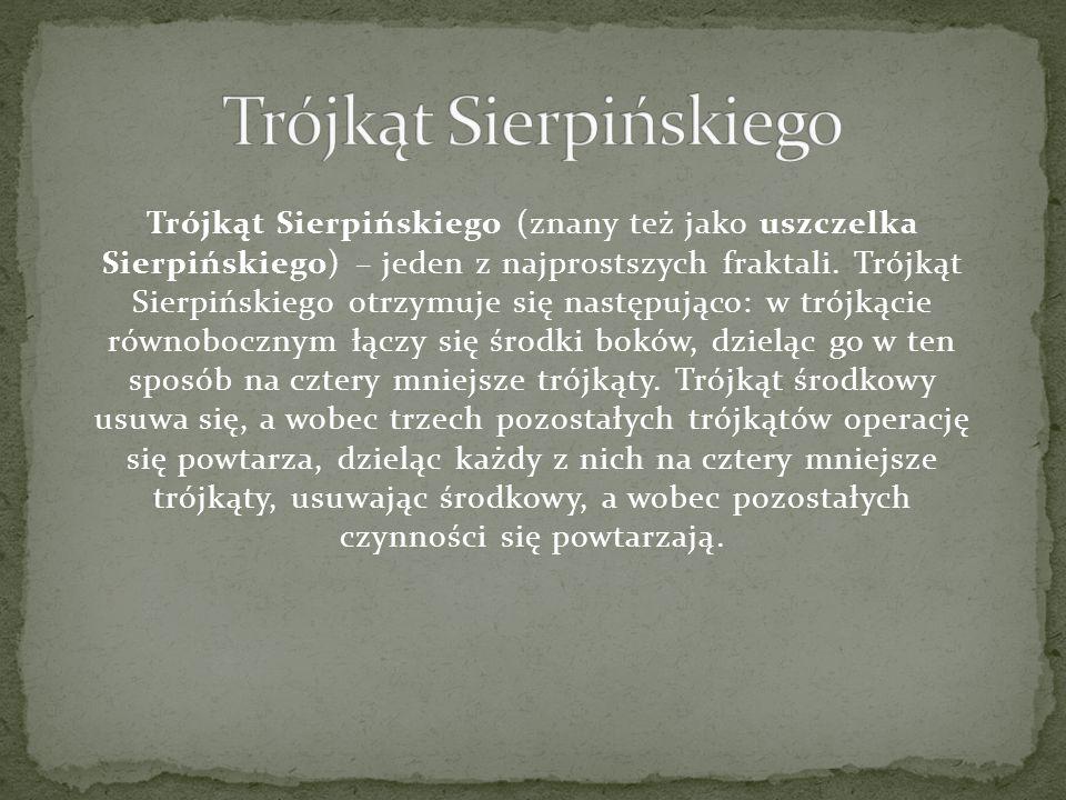 Trójkąt Sierpińskiego (znany też jako uszczelka Sierpińskiego) – jeden z najprostszych fraktali. Trójkąt Sierpińskiego otrzymuje się następująco: w tr
