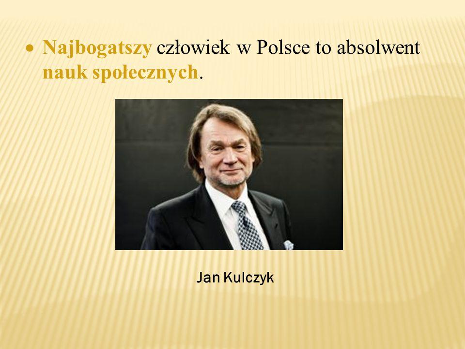  Najbogatszy człowiek w Polsce to absolwent nauk społecznych. Jan Kulczyk