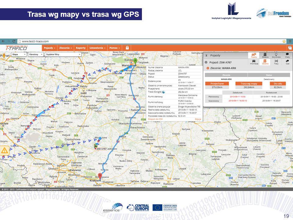 Trasa wg mapy vs trasa wg GPS 19