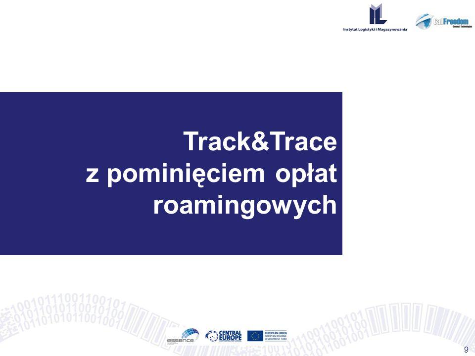 Track&Trace z pominięciem opłat roamingowych 9