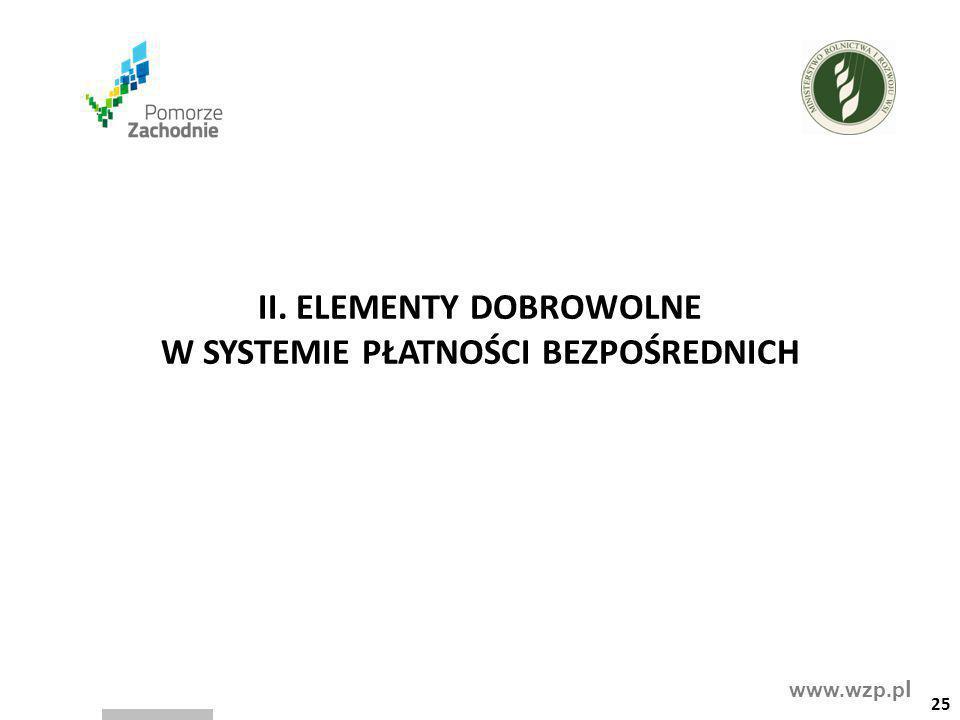 www.wzp.p l II. ELEMENTY DOBROWOLNE W SYSTEMIE PŁATNOŚCI BEZPOŚREDNICH 25