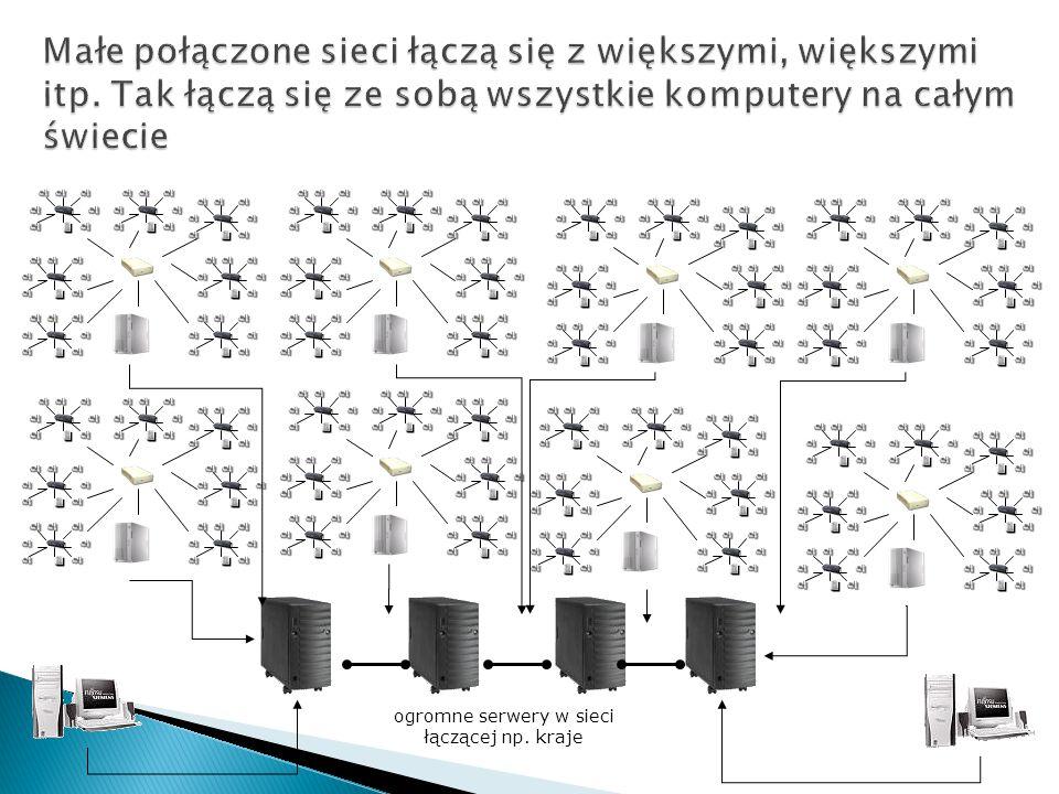 ogromne serwery w sieci łączącej np. kraje