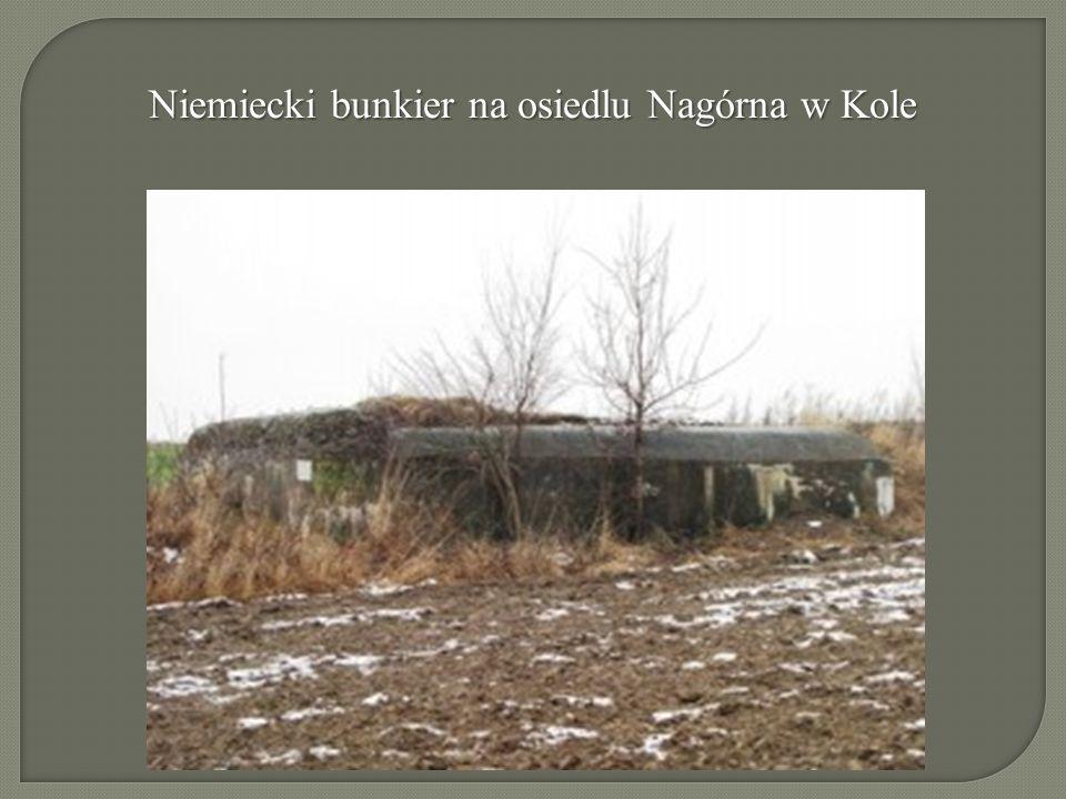Niemiecki bunkier na osiedlu Nagórna w Kole