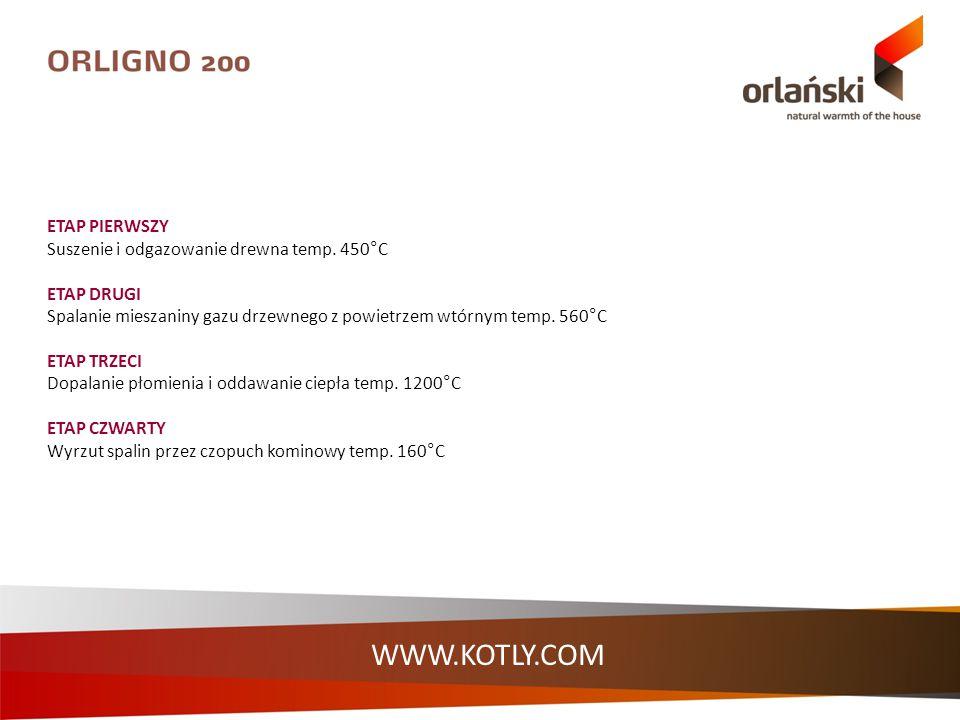 WWW.KOTLY.COM Doboru mocy kotła dokonujemy na podstawie: zapotrzebowania ciepła budynku wyliczonego przez projektanta instalacji, Otrzymaną wartość powiększamy o 20% (tzw.