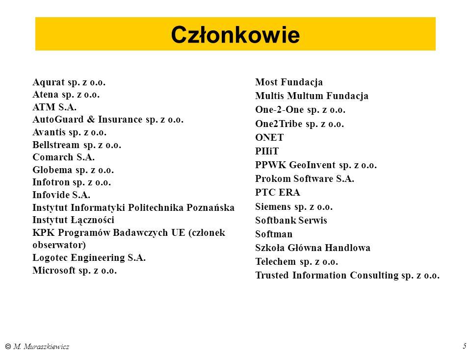 6  M.Muraszkiewicz Komitet Sterujący dr Marek Maniecki,Globema prof.