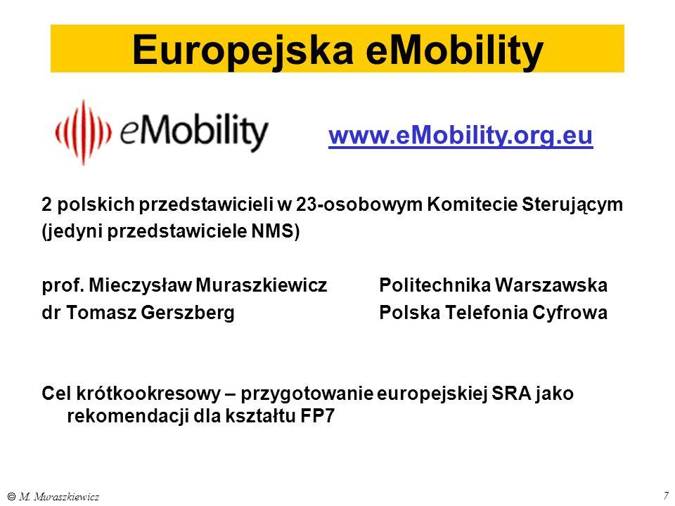 7  M. Muraszkiewicz 2 polskich przedstawicieli w 23-osobowym Komitecie Sterującym (jedyni przedstawiciele NMS) prof. Mieczysław MuraszkiewiczPolitech
