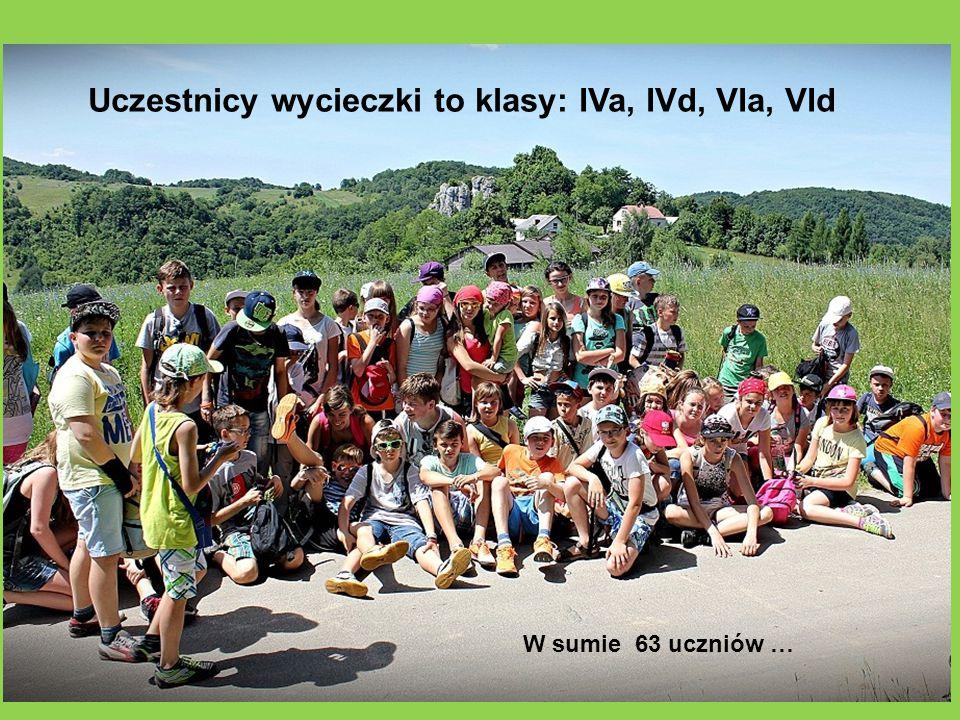 Uczestnicy wycieczki to klasy: IVa, IVd, VIa, VId W sumie 63 uczniów …