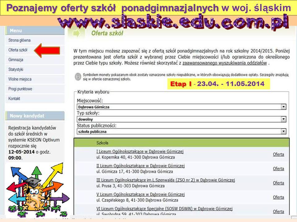 Poznajemy oferty szkół ponadgimnazjalnych Poznajemy oferty szkół ponadgimnazjalnych w woj.