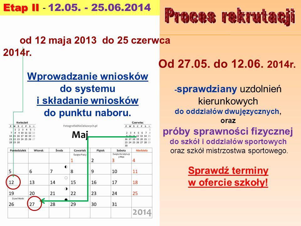 Od 27.05.do 12.06. 2014r.