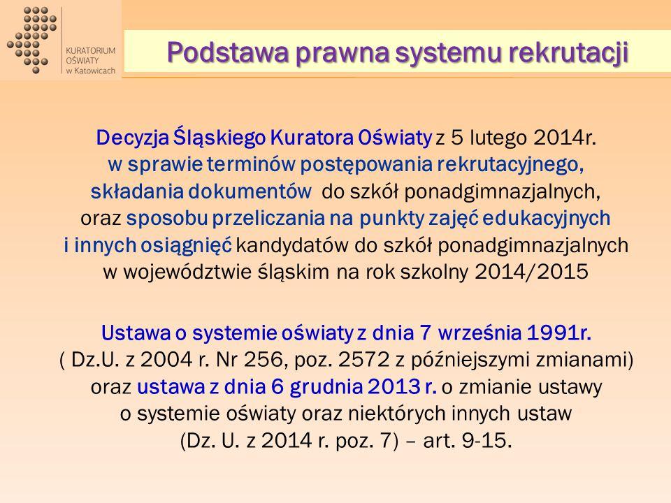Decyzja Śląskiego Kuratora Oświaty z 5 lutego 2014r.