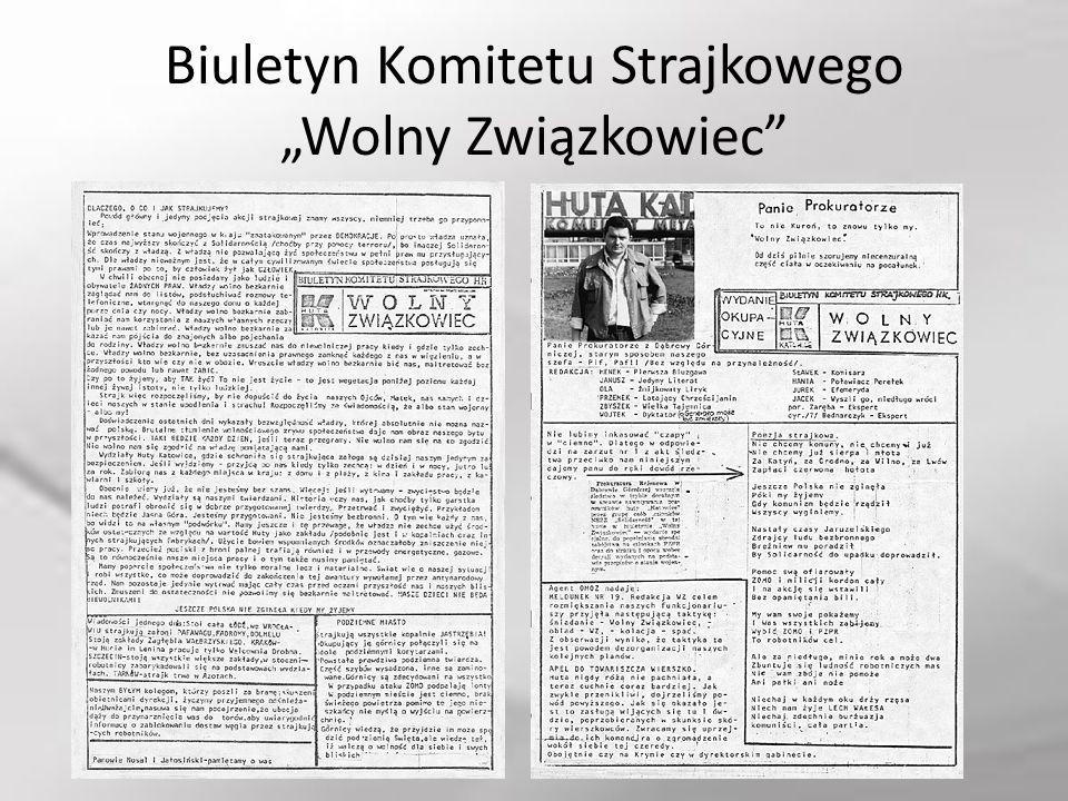 """Biuletyn Komitetu Strajkowego """"Wolny Związkowiec"""""""