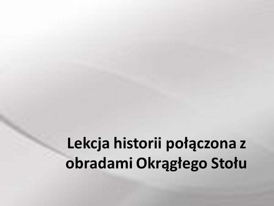 Nauczyciel historii Edyta Pażdziorek przeprowadził w klasach szóstych lekcje poświęconą sytuacji w naszym kraju w roku 1989.