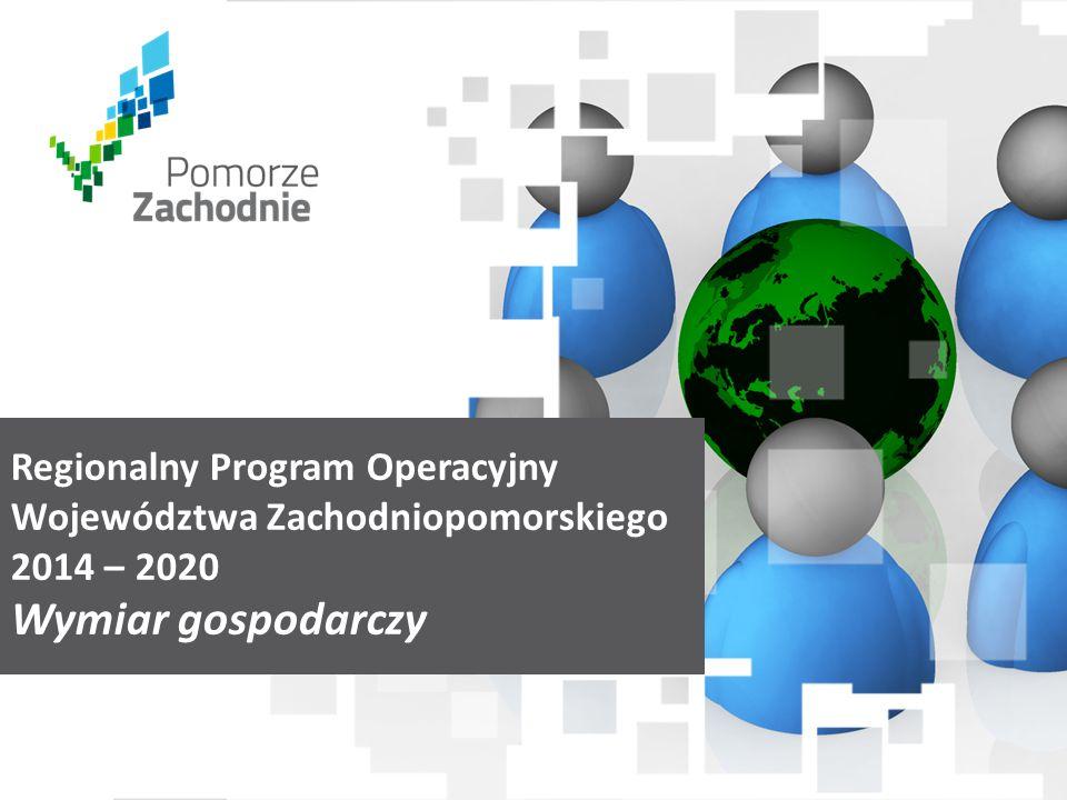 www.wzp.p l Regionalny Program Operacyjny Województwa Zachodniopomorskiego 2014 – 2020 Wymiar gospodarczy