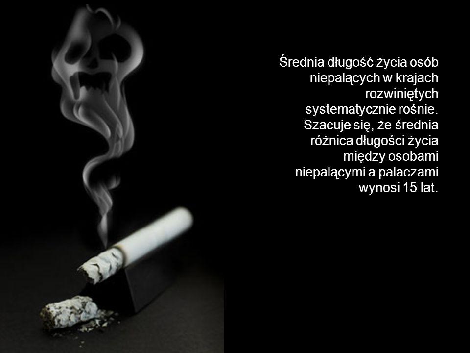 Średnia długość życia osób niepalących w krajach rozwiniętych systematycznie rośnie. Szacuje się, że średnia różnica długości życia między osobami nie