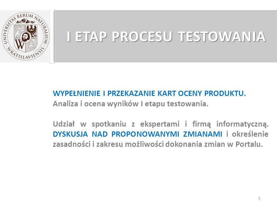 KARTY OCENY PRODUKTU 26 9. Testowany Portal jest narzędziem wymiany informacji branżowej.