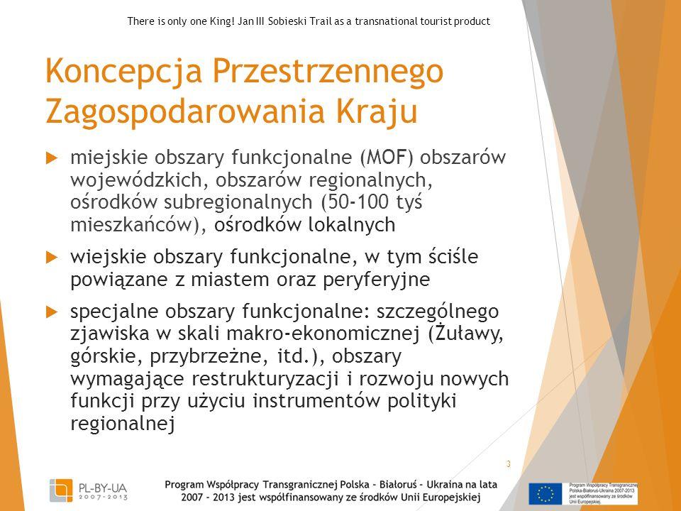 Koncepcja Przestrzennego Zagospodarowania Kraju  miejskie obszary funkcjonalne (MOF) obszarów wojewódzkich, obszarów regionalnych, ośrodków subregion
