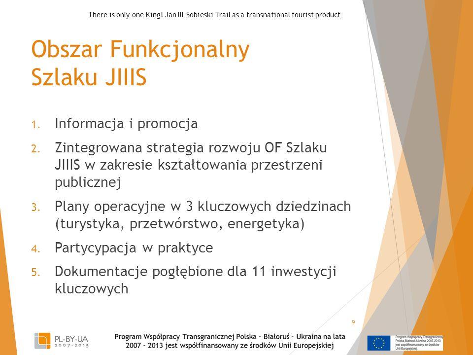 Obszar Funkcjonalny Szlaku JIIIS 1. Informacja i promocja 2. Zintegrowana strategia rozwoju OF Szlaku JIIIS w zakresie kształtowania przestrzeni publi