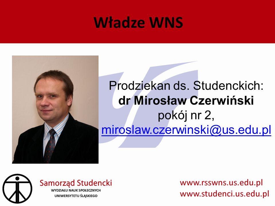 Władze WNS Prodziekan ds.