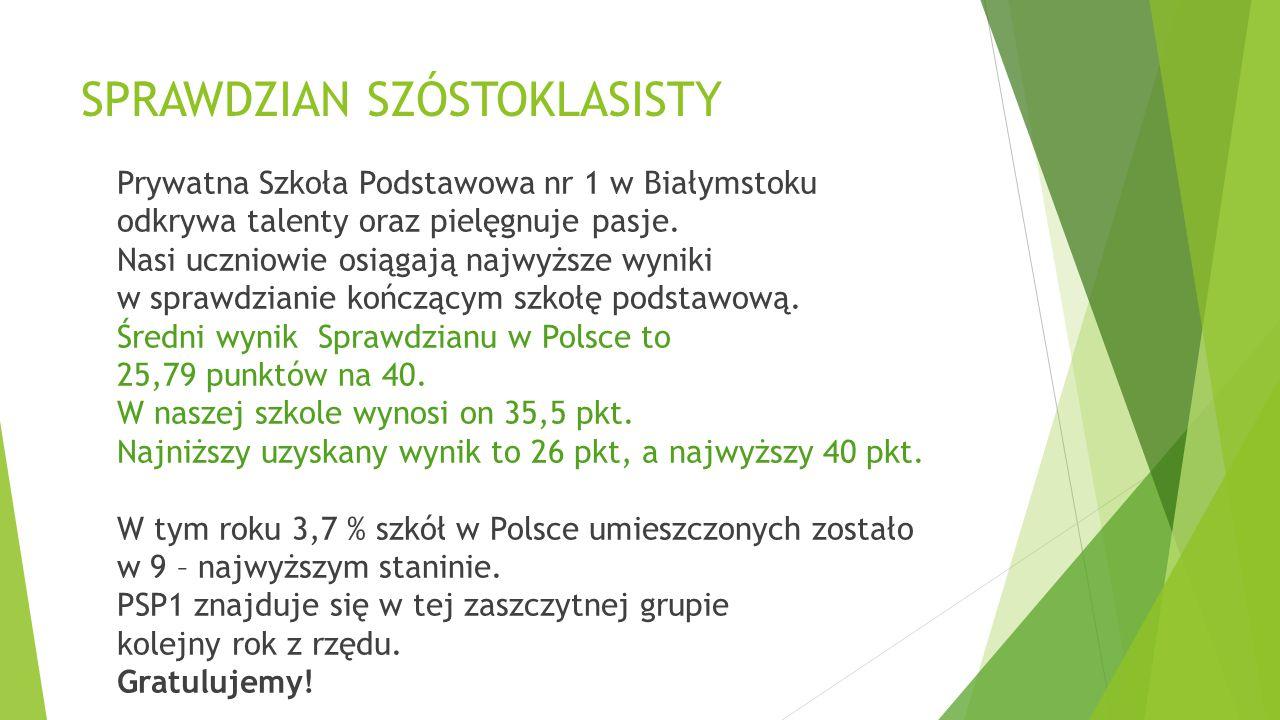 *Ogólnopolska Olimpiada Olimpusek – język angielski Laureaci:  Natalia Bielecka (kl.