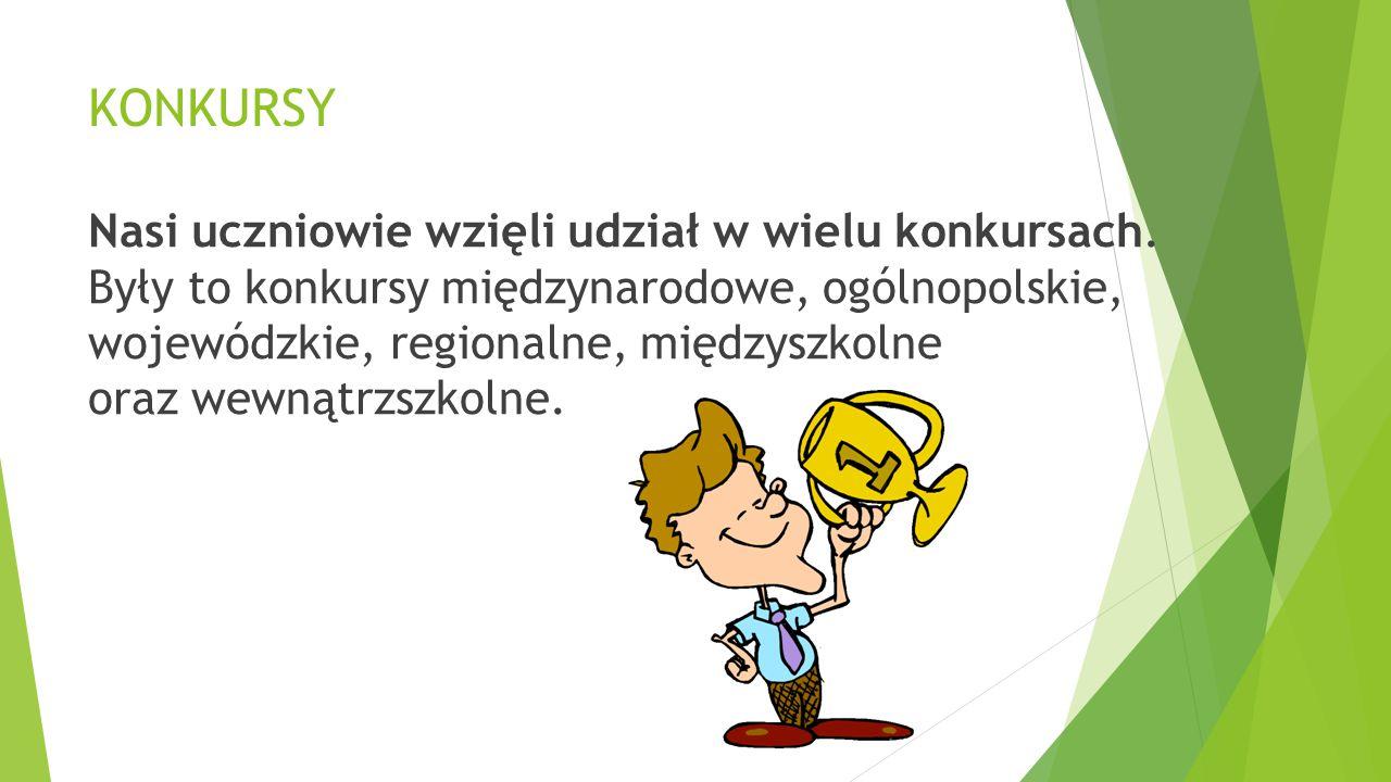 *Ogólnopolski Konkurs ZUCH Tytuł laureata otrzymali:  Oskar Skutnik (kl.