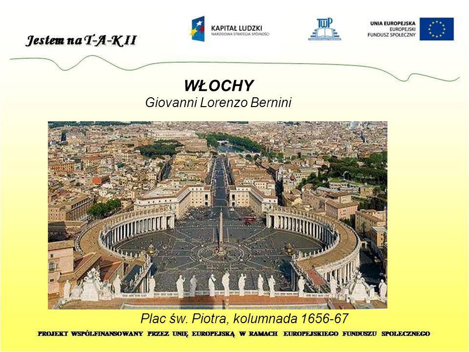 WŁOCHY Giovanni Lorenzo Bernini Plac św. Piotra, kolumnada 1656-67