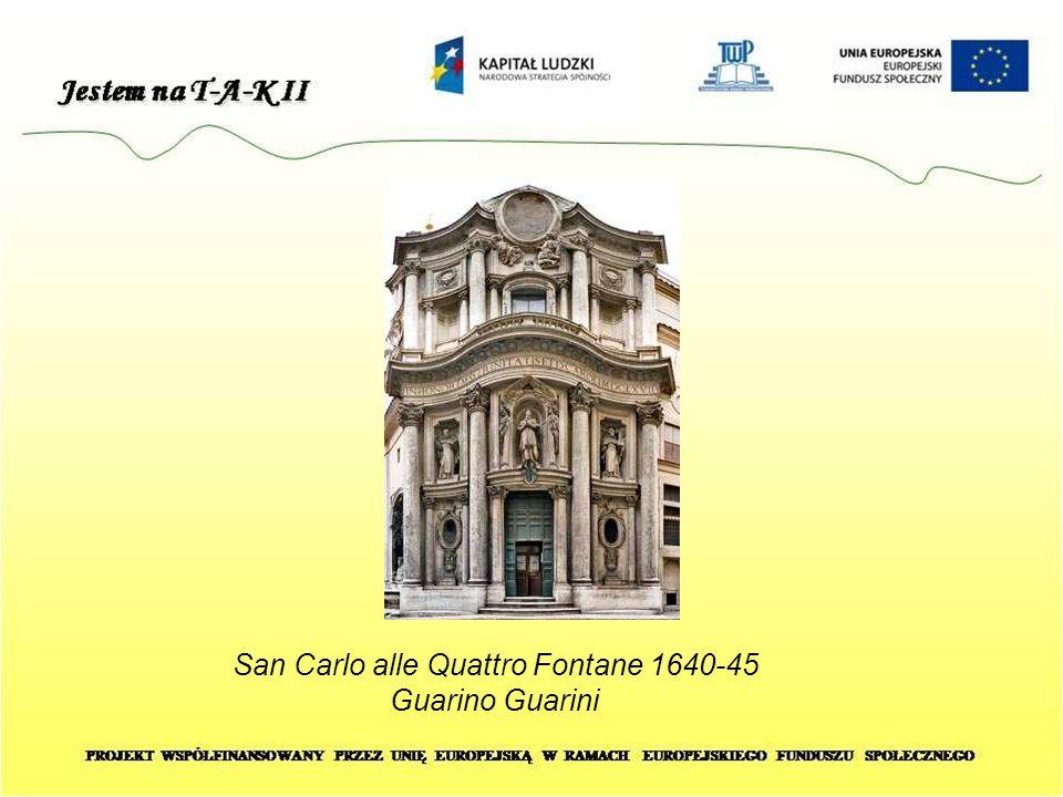 San Carlo alle Quattro Fontane 1640-45 Guarino Guarini