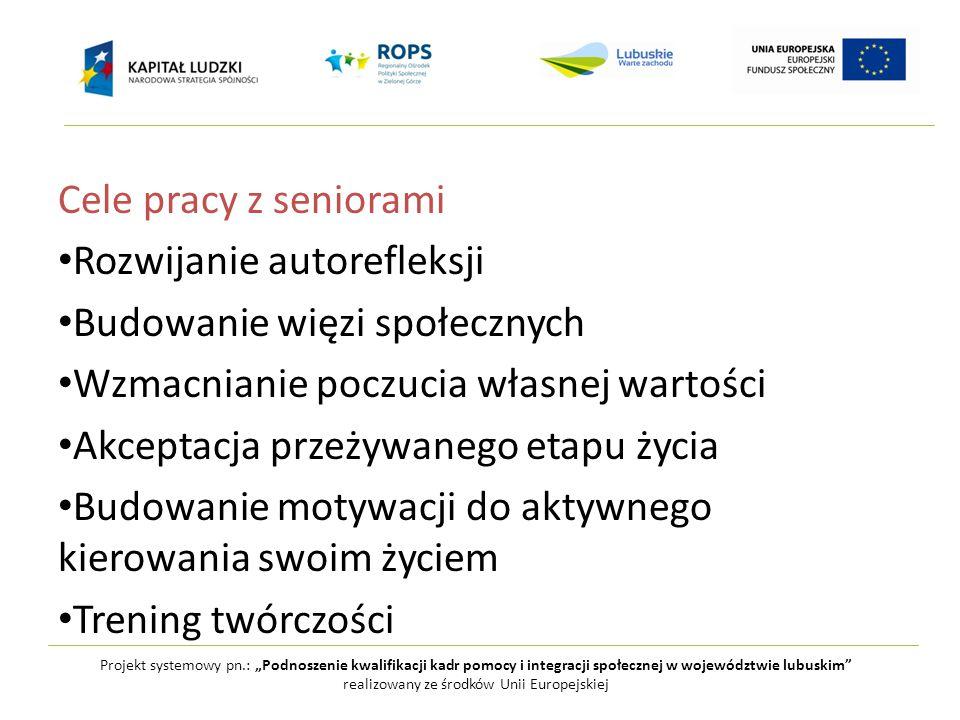 """Projekt systemowy pn.: """"Podnoszenie kwalifikacji kadr pomocy i integracji społecznej w województwie lubuskim realizowany ze środków Unii Europejskiej Dla kogo."""