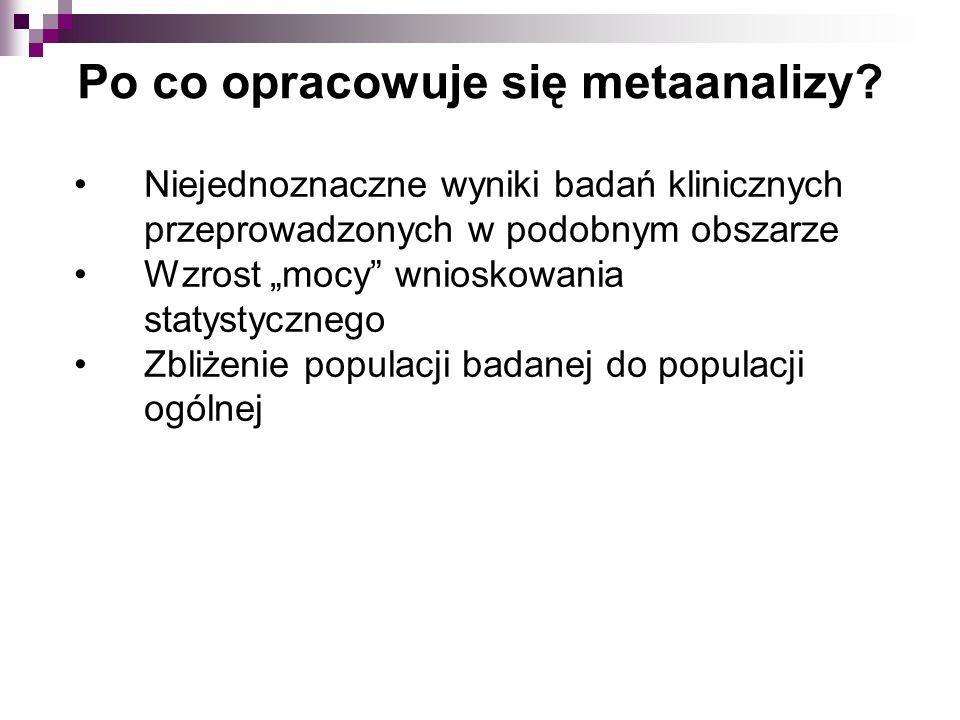 Po co opracowuje się metaanalizy.