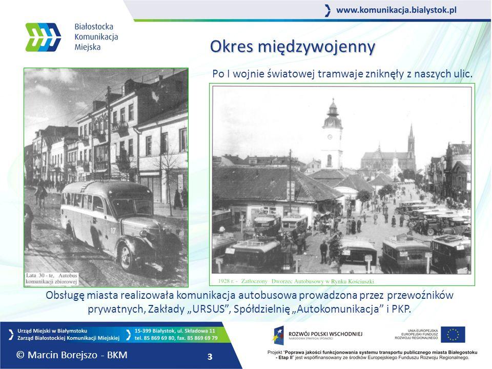 3 Okres międzywojenny Po I wojnie światowej tramwaje zniknęły z naszych ulic. Obsługę miasta realizowała komunikacja autobusowa prowadzona przez przew