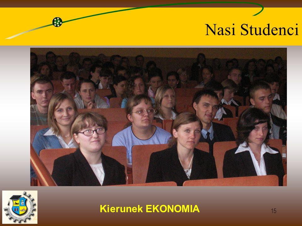 Kierunek EKONOMIA 15 Nasi Studenci