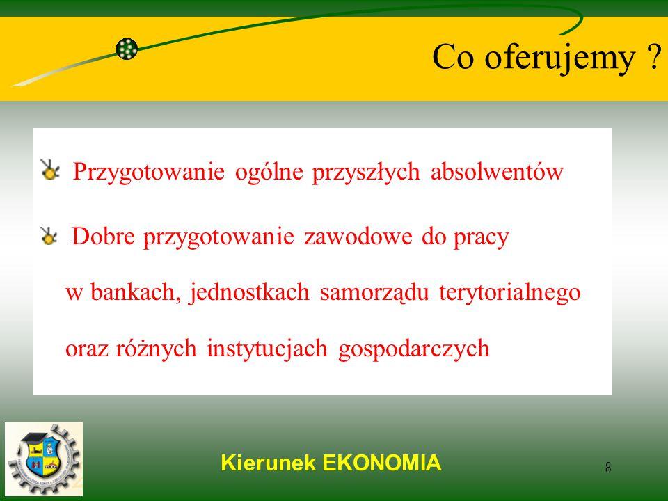Kierunek EKONOMIA 8 Co oferujemy .